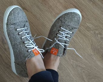 HEMP SHOES Sneakers + Gift - Hemp socks! / Natural non-dyed Organic Hemp/ Women Vegan Organic shoes/ hemp socks
