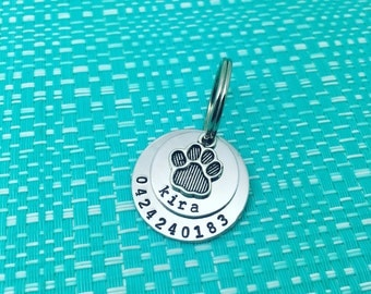 Personalised hand stamped pet tag. Dog tag. Cat tag. Pet tag. Name tag. Puppy tag. Kitten tag. ID tag. Customized pet tag. Adelaide.