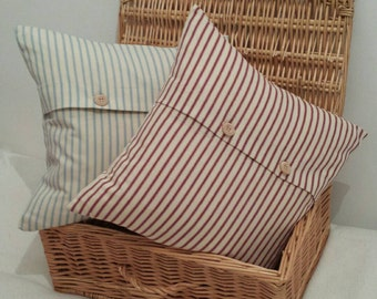 "Ticking Scatter Cushion 14"" x 14"""