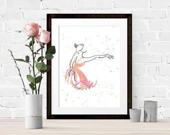 Watercolour Ballet Print 3 of 4
