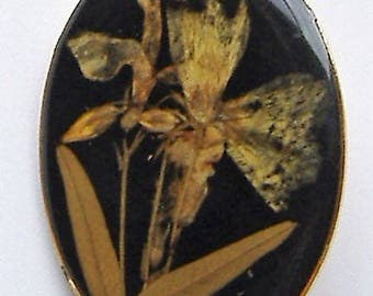 1950S DRIED FLOWER  brooch