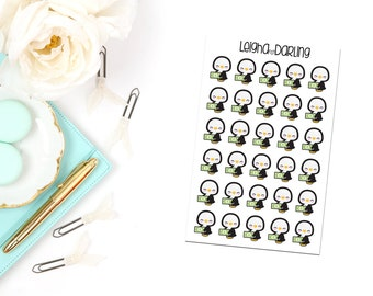 Pay Day/Money Penguin Planner Stickers