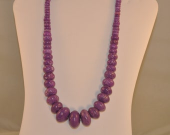 Deep Purple Turquoise Necklace
