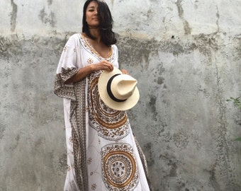 Morocco kaftan,Dress ,bohemian,hipppie ,festival ,oversized, long dress beach resort Wear, oversized ,caftan boho, white ,sequin