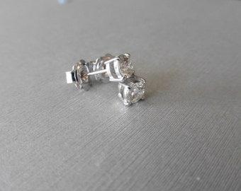 25% OFF **  Diamond Solitaire Earrings  ** SALE