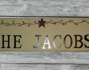 PERSONALIZED NAME SIGNS,wood family name ,custom sign