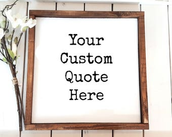 Custom Sign   Wood Sign   Framed Sign    Wood framed sign   Personalized Sign   Create your own sign   Custom Wood Sign   Sign   Home Sign