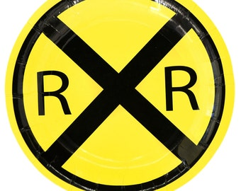 "RailRoad Train Party 7"" Dessert Plates 8 Pack"