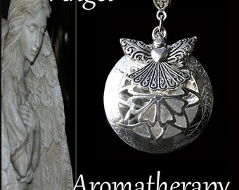 Free Essential Oil Diffuser Necklace Silver Moon Aromatherapy