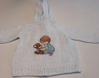 Baby boy handmade hooded sweater