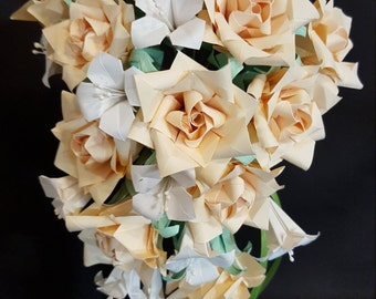 Wedding  bouquet Origami Flowers