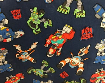 Transformers Rescue Bots fabric, cartoon fabric, kids fabric, licensed fabric, Transfomers