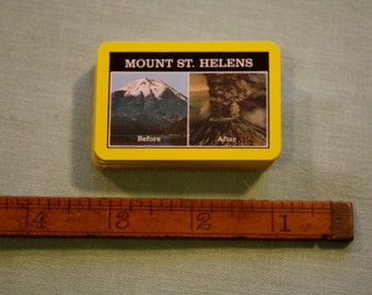 Vintage Mini Mount St. Helens Playing Cards: Before and After the Eruption