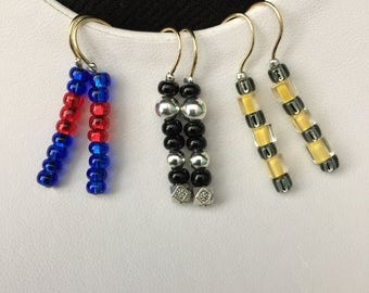 Set of Three Earrings (Inspired by Transformers)