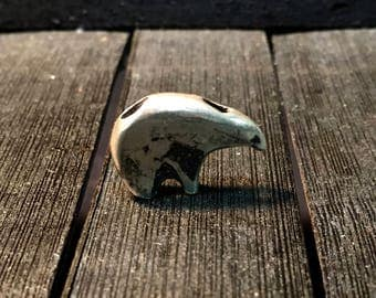 Vintage Native American Sterling Silver Bear Pendant   #242