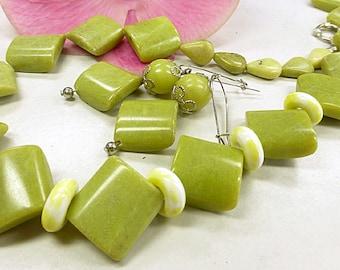 Magnificent noble set of lemon jade
