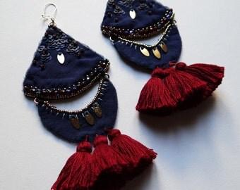 Earrings PomPoms Opiums #36