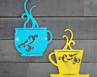 Metal coffee sign   Etsy