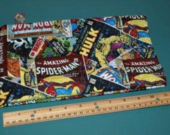 2 Yards Licensed Marvel Retro Comic Cotton Fabric NEW