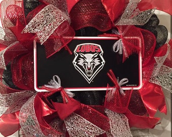 University of New Mexico Deco Mesh Wreath