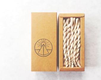 Cedar Rope Incense.All Natural. Rituals Incense. Himalayan Cedar.