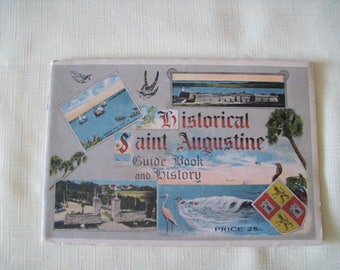 Historical Saint Augustine Guide Book and History 1916 and Other Tourist Books (Lot of 12)