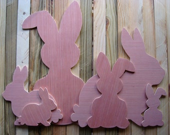 Easter Bunny, Wood (Unfinished); Easter Decoration; Easter Door Hanger; Rabbit Door Hanger; Easter Activity