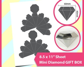 "Instant Download, Diamond box Template, PSD, PNG and SVG Formats,  8.5x11"" sheet,  Printable 048"