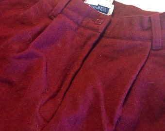 BridgeWater Classics red wool shorts