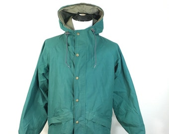 80's columbia gore-tex mountain parka outdoor jacket made in usa mens size M