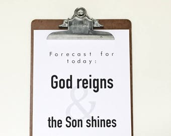 Forecast For Today Sign