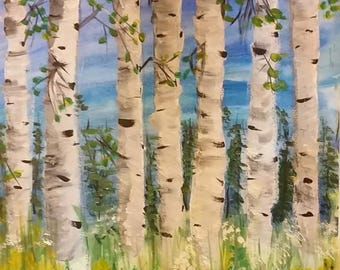 A GROUP OF BIRCH