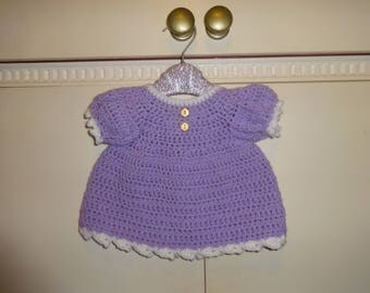 lilac crochet dress new born size