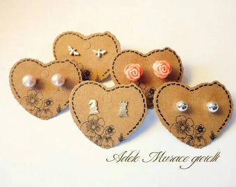 Studs with pearls, roses, rook and Knight, bees, 925 Silver shiny balls offer!