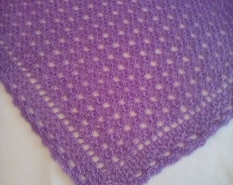 Basket Lace Crocheted Baby Blanket