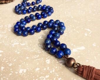 Lapis Lazuli tassel necklace,lapis lazuli stone necklace,lapis tassel necklace,lapis lazuli,lapis stone necklace,Christmas gift for her,lapi