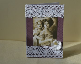 Mother's Day card, vintage style card