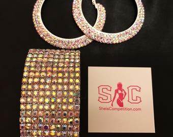 AB Hoop and Bracelet Set