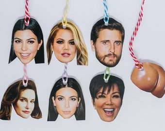 Celebrity Gift Tags -The Kardashian Pack (Bonus Kim K ass)