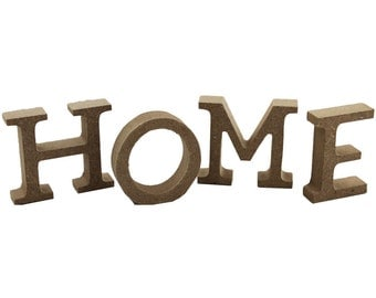 Decorate your own Papier Paper Mache Word - H O M E -  Decopatch  Free Standing 5cm tall Plain Decorate Crafts
