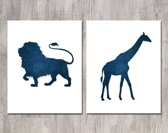 Playroom Art - Baby Boy Nursery Art - Baby Shower Gift - Nursery Decor - Kids Wall Art- Playroom Decor - Nursery Wall Art - Lion Nursery