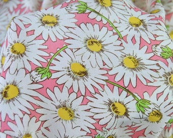 Daisy fabric pink faux silk by the yard