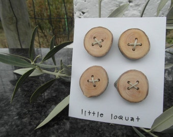 Rustic Buttons ~ Olive Wood Gift ~ Chunky Wood Buttons ~ Wooden Buttons ~ Natural Buttons ~ Gift for Knitters