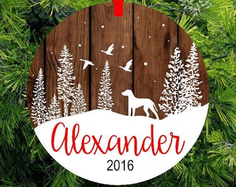 Personalized Woodland Duck Flight Christmas Ornament | Gift for Him | Gift Under 20- lovebirdschristmas