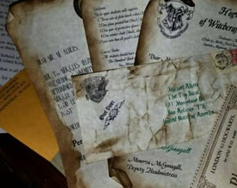 Hogwarts Acceptance Letter, personalized just how you want it. Best. Birthday. Present. EVER!