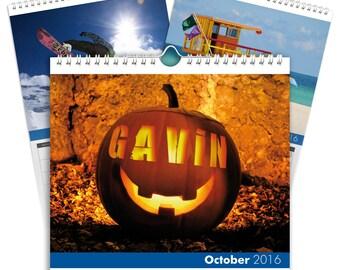 Personalised Seasons Calendar - A5