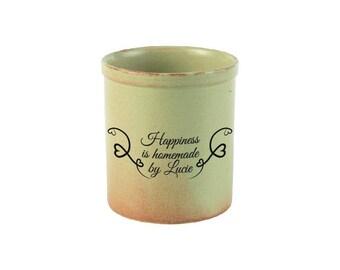 Personalised Rustico Utensil Jar