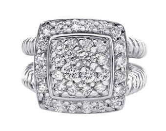 1.75 Carat Round Cut Anniversary Cocktail Diamond Ring 14K White Gold