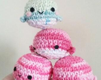 cute whale with chain - handmade crochet - amigurumi