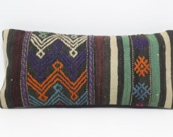 vintage kilim pillow 12x20 kilim pillow turkish kilim pillow anatolian kilim pillow decorative kilim pillow sofa pillow SP3050-738